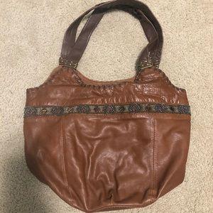 Brown beaded 'the sak' handbag